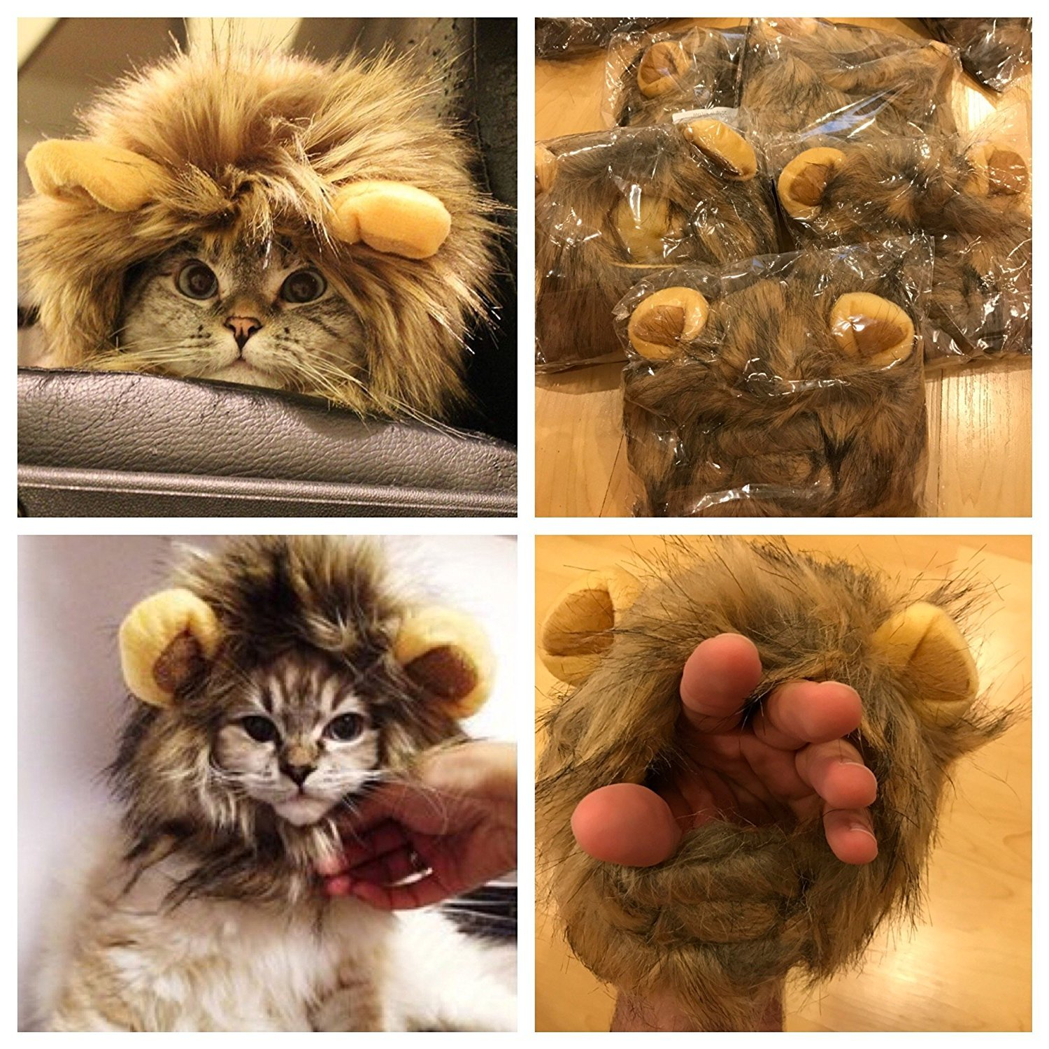 Amazon omg adorables lion mane costume for cats soft furry amazon omg adorables lion mane costume for cats soft furry pet wig with cute ears fits adult felines and small dogs pet friendly clothing solutioingenieria Gallery