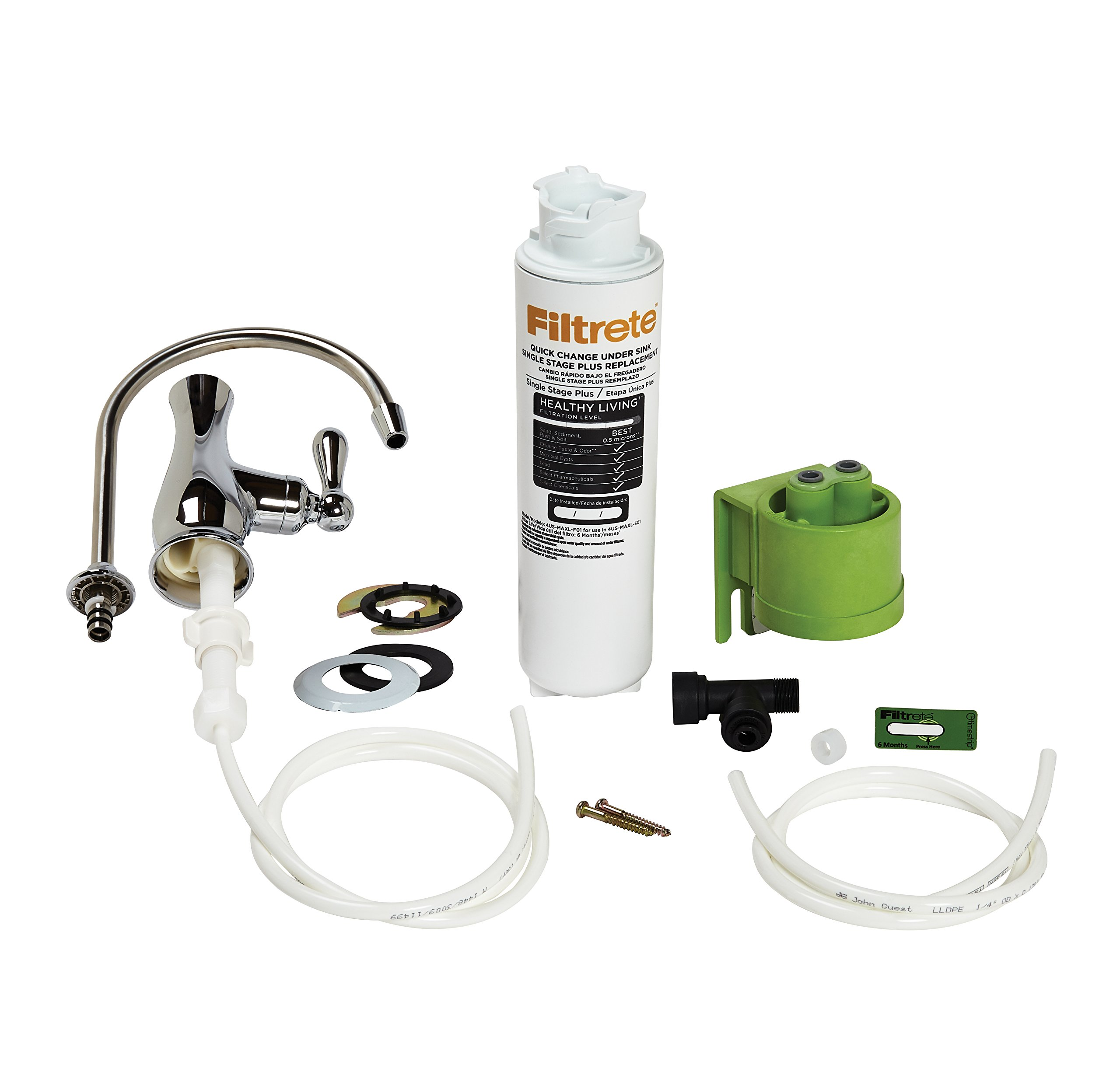 Filtrete High Performance Drinking Water System, Reduces 99% Lead, 1 System with Dedicated Faucet (4US-MAXL-S01)