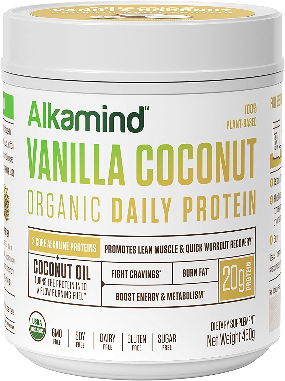 Alkamind Organic Daily Protein – Vanilla Coconut, 450 grams
