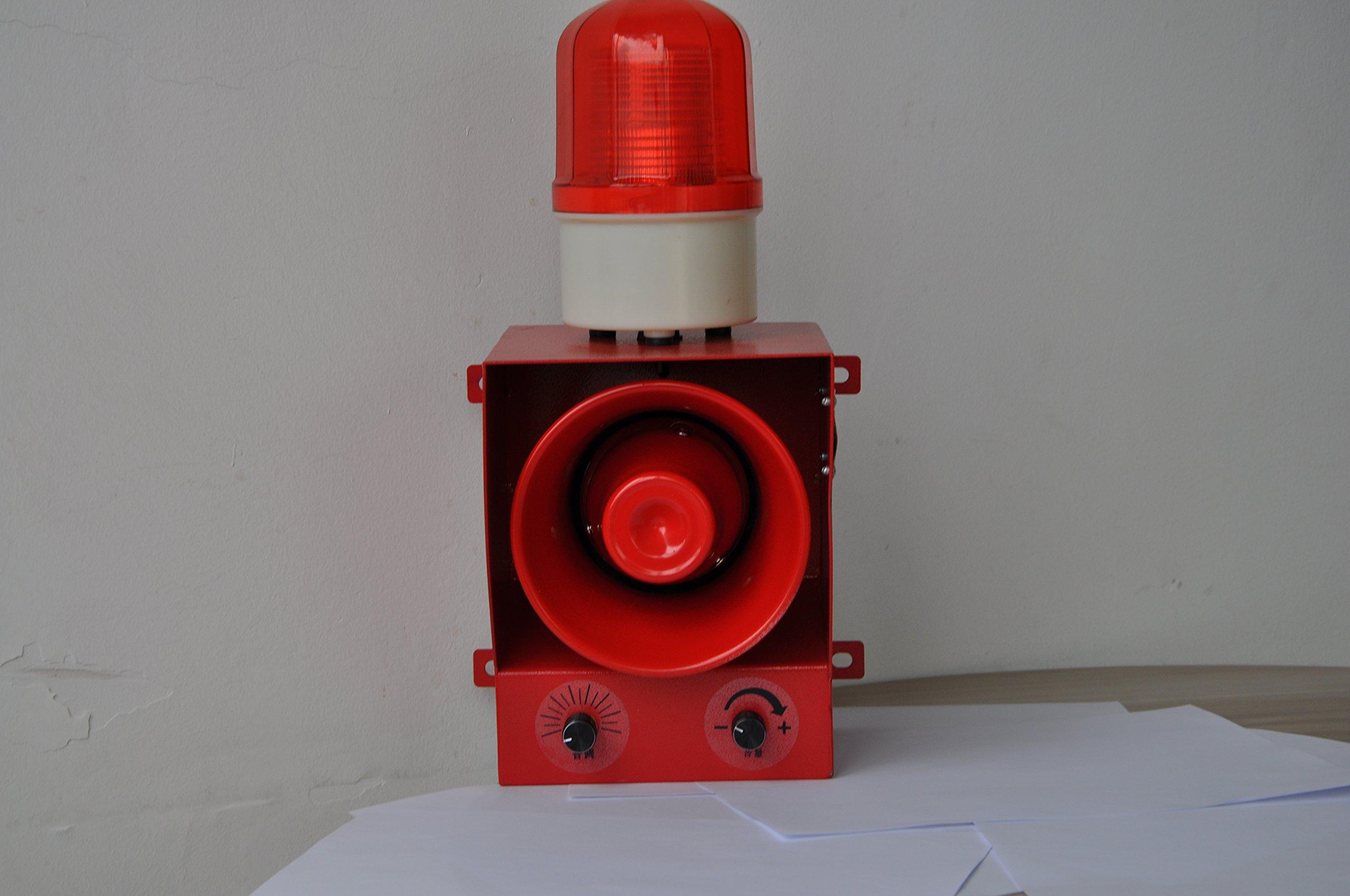 YS-05B AC110V-120V Sound volume adjustable sound and light alarm Alarm siren for emergency