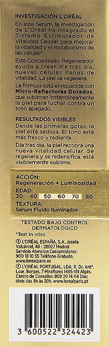 Amazon.com: Loreal Age Perfect Cell Restaurativa Serum 30 ml ...