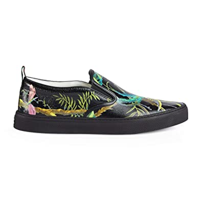 Amazon.com  Gucci Men s Shanghai Tropical Print Slip-on Sneakers ... a03ba1fbe