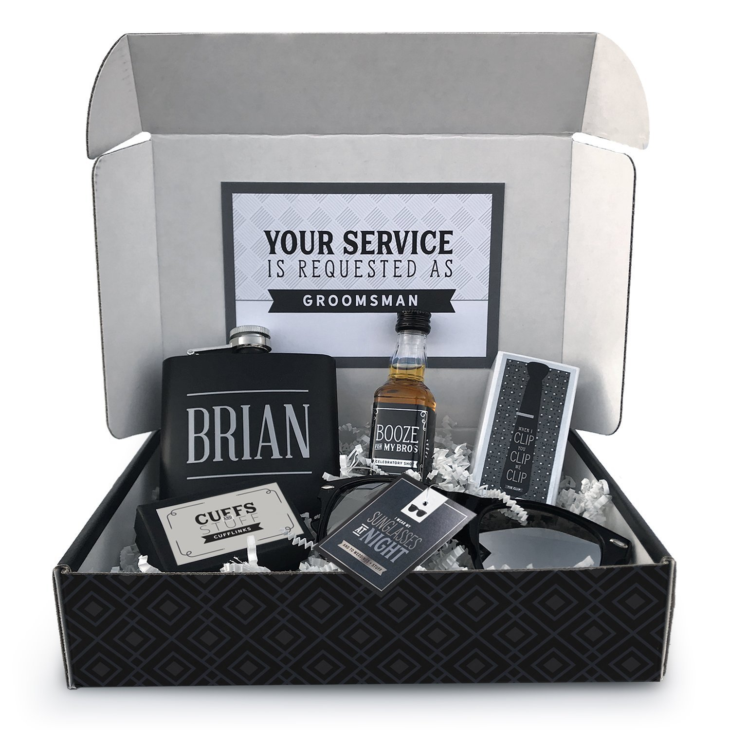 9fd626e6bd Amazon.com  Will You Be My Groomsman Box Personalized