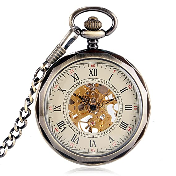 YISUYA mecánico mano Winding números romanos reloj de ...