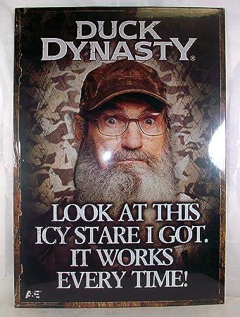 Amazon.com: Duck Dynasty Estaño Cartel de Uncle Si