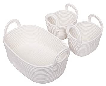 Basket Weave Chests Set of 3