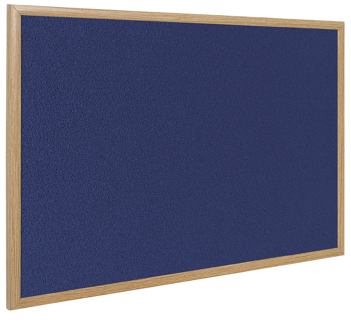 Bi-Office Earth - Notice Board, Blue Felt, Oak Finish Frame 90 x 60 cm