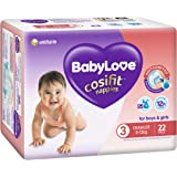 BABYLOVE Cosifit Crawler Nappies 6-11kg (22 pack x 4), Crawler, 4 count
