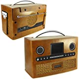 Tuff-Luv Retro Vintage leather case for Roberts DAB radio Stream 93i - Brown