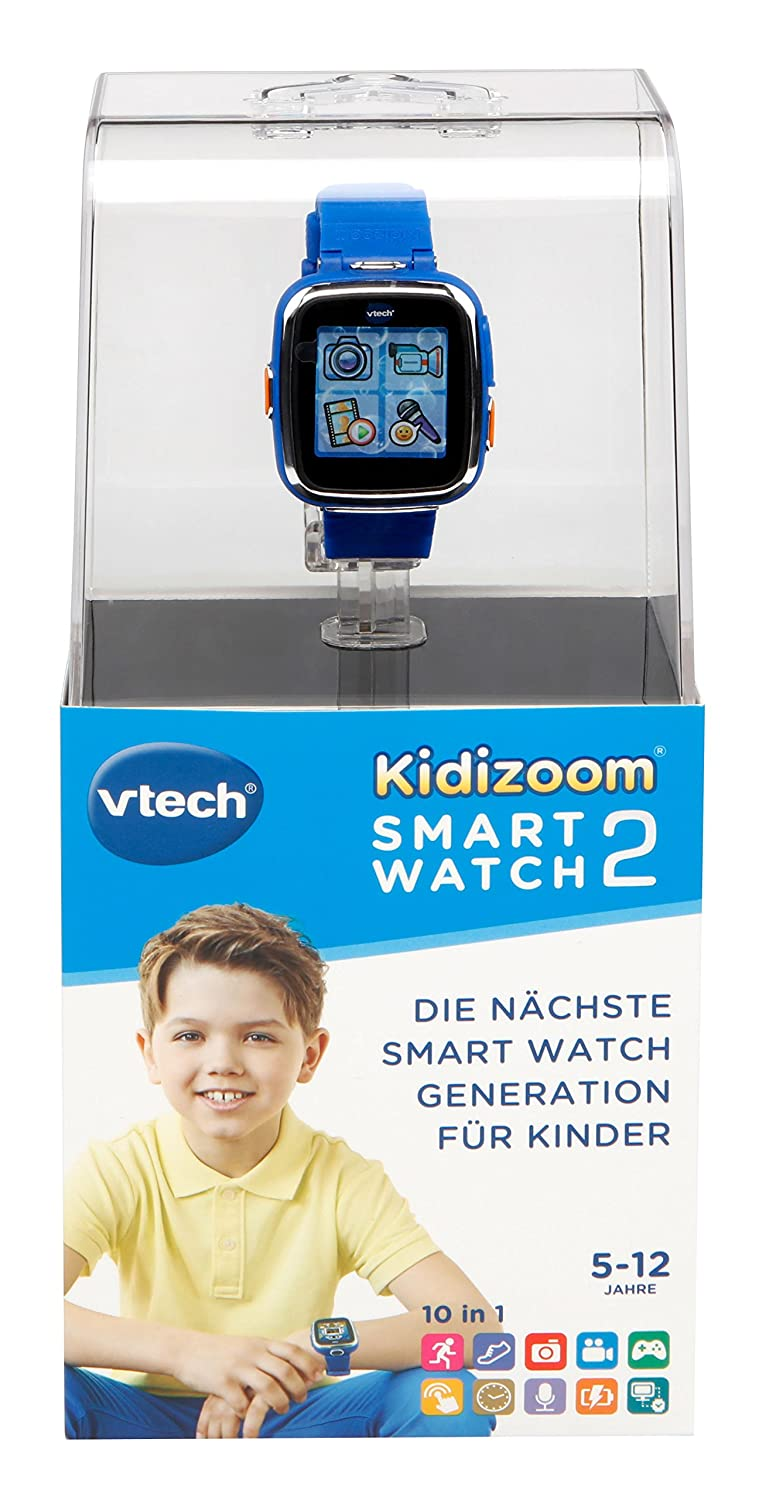 VTech - Kidizoom Reloj Interactivo Connect DX, Color Azul, versión Alemana