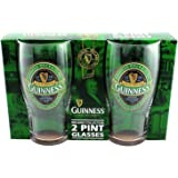 Guinness Green Collection Pint Glasses - Set of 2 Glasses