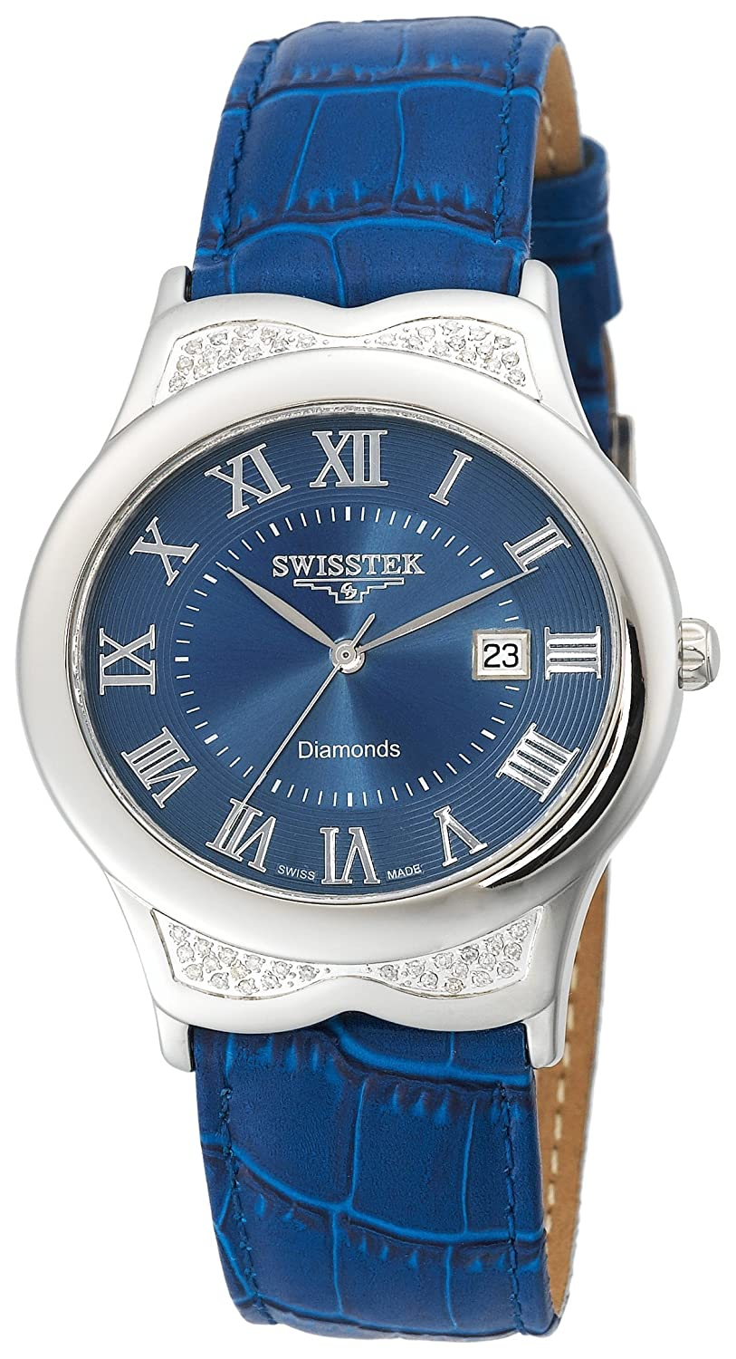 Swisstek Herren SK21608G Slim-Tek Limited Edition Diamond Watch