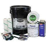 """Liquid Rubber RV Roof Coating/Sealant 5 Gallon Kit - Brilliant White - TOP SELLER - Includes 5G of Liquid Rubber RV Coating, Liquid Rubber 4"""" x 50' Seam Tape, Primer, Cleaner, Brushes, Rollers, Gloves"""
