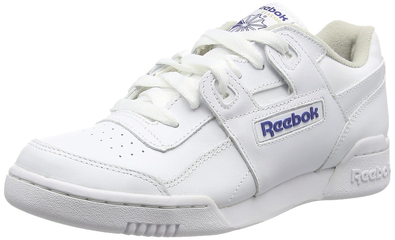 Reebok Men's Workout Plus Cross Trainer B0029XJ2FU 11.5 D(M) US|White/Royal