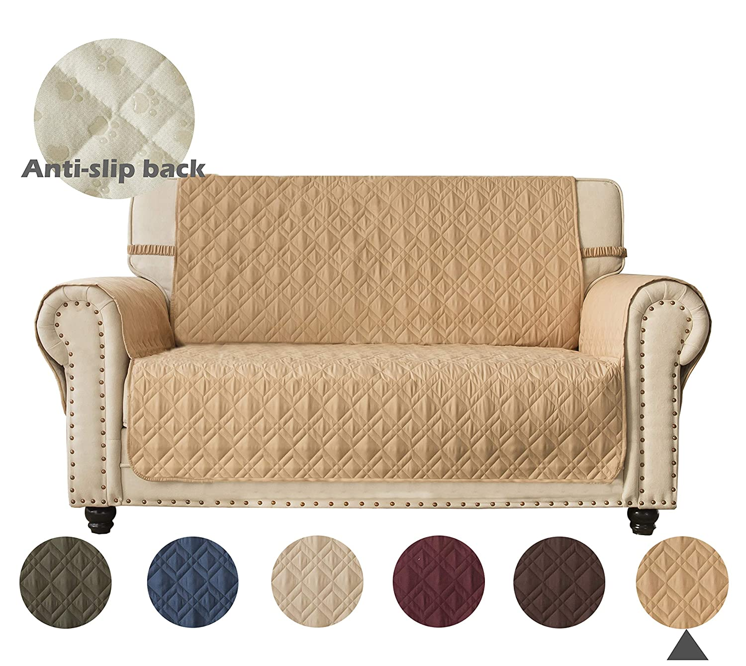 Amazon Com Ameritex Loveseat Cover 100 Waterproof Quilted