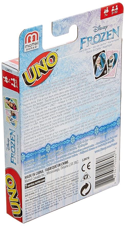 Mattel Spiele CJM70 - Kartenspiele, UNO Die Eiskönigin: Amazon.de ...