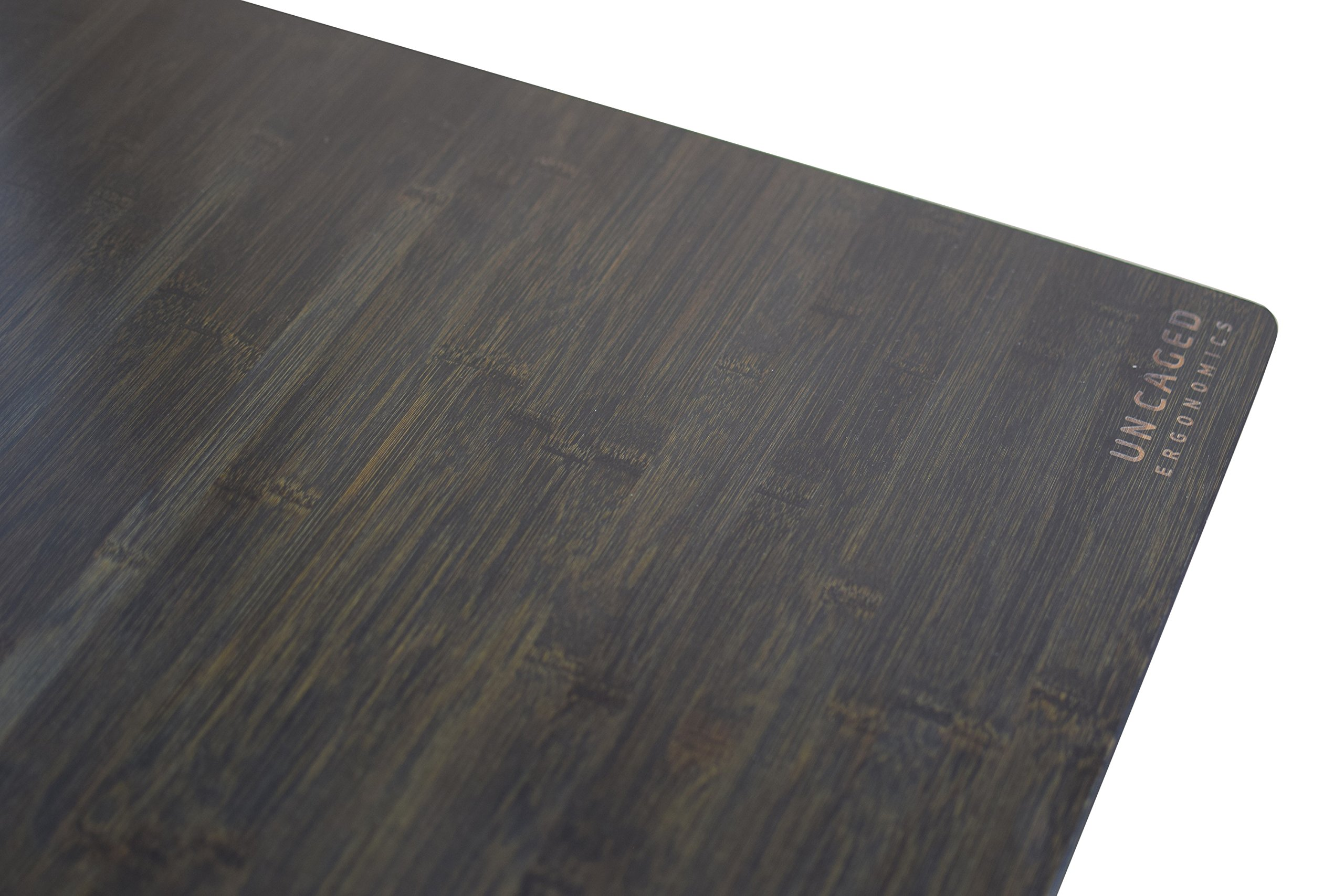 RISE UP Electric Adjustable Height Standing Desk + Beautiful Black Bamboo Desktop| Memory Keypad| 2 Motors| Affordable Ergonomic Sit Stand Office Desk by Uncaged Ergonomics (Image #9)