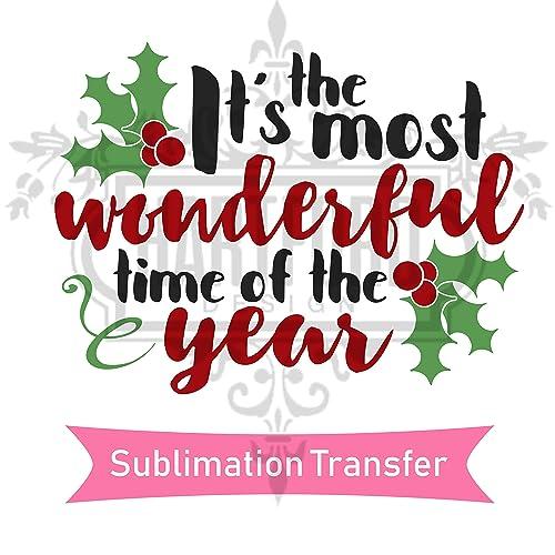 Amazon com: Christmas Sublimation Transfer Ready To Press