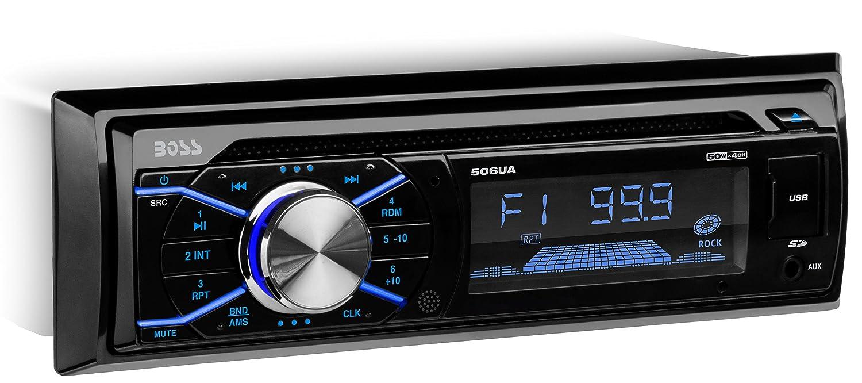 Amazon.com: BOSS Audio 506UA Single Din, CD/MP3/USB/SD AM/FM Car Stereo,  Wireless Remote: BOSS AUDIO: Car Electronics