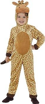 Smiffys-44421M Disfraz de jirafa, con mono con capucha y cola ...