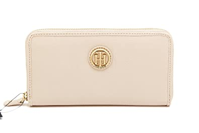 fad21990817fe Tommy Hilfiger Womens Zip around Wallet TH Medallion Zip Wallet