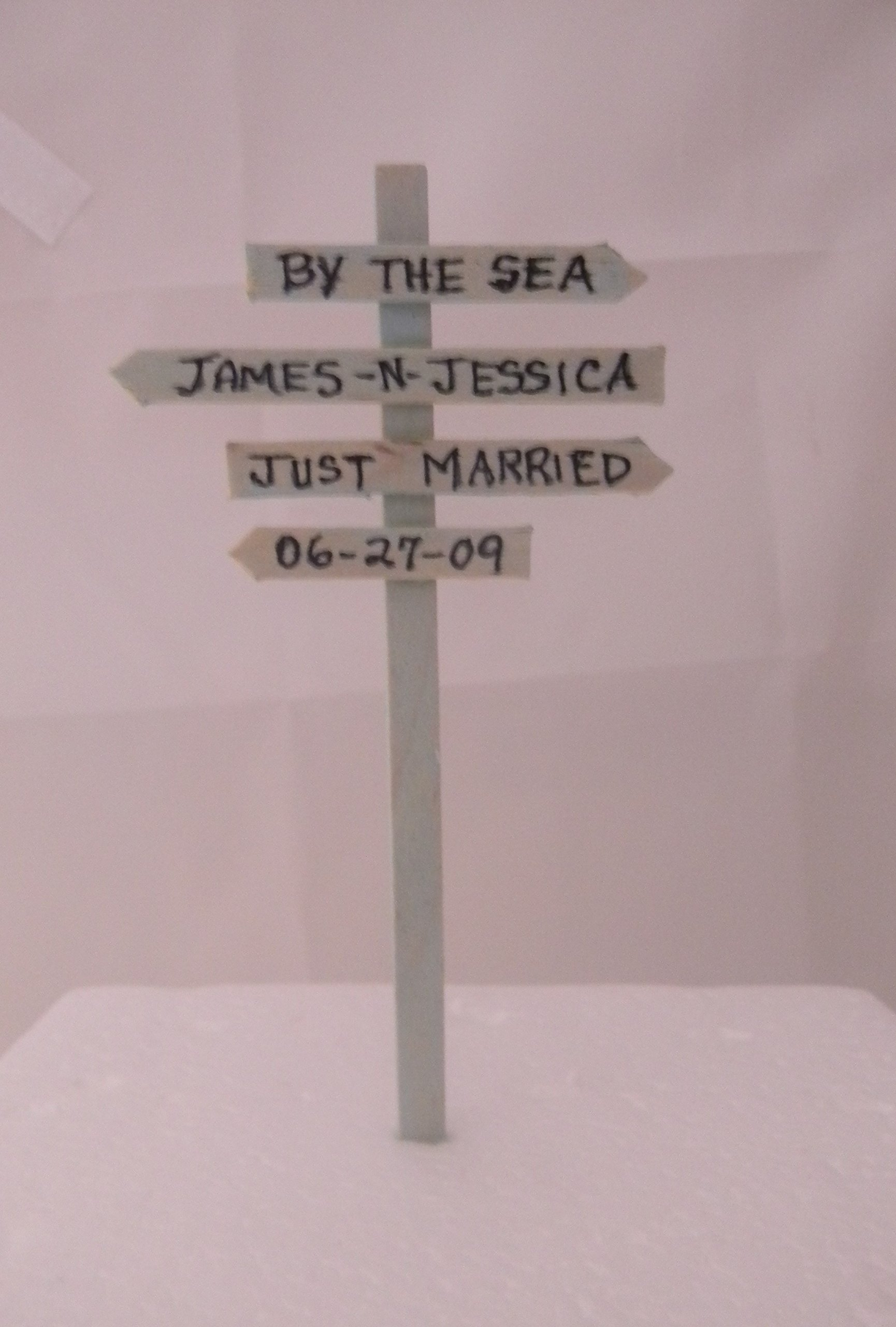 Wedding Reception Adirondack Chairs Beach Real Seahell Cake Topper Sign by Design by Suzanne (Image #2)