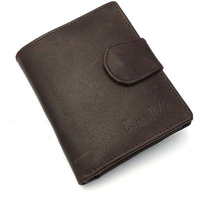 Buono Pelle Para hombre Real de piel auténtica de alta calidad funda Cartera Tarjeta de crédito Holder Monedero en caja de regalo