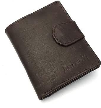 Para hombre Real de piel auténtica de alta calidad funda Buono pelle – Cartera Tarjeta de crédito Holder Monedero en caja de regalo