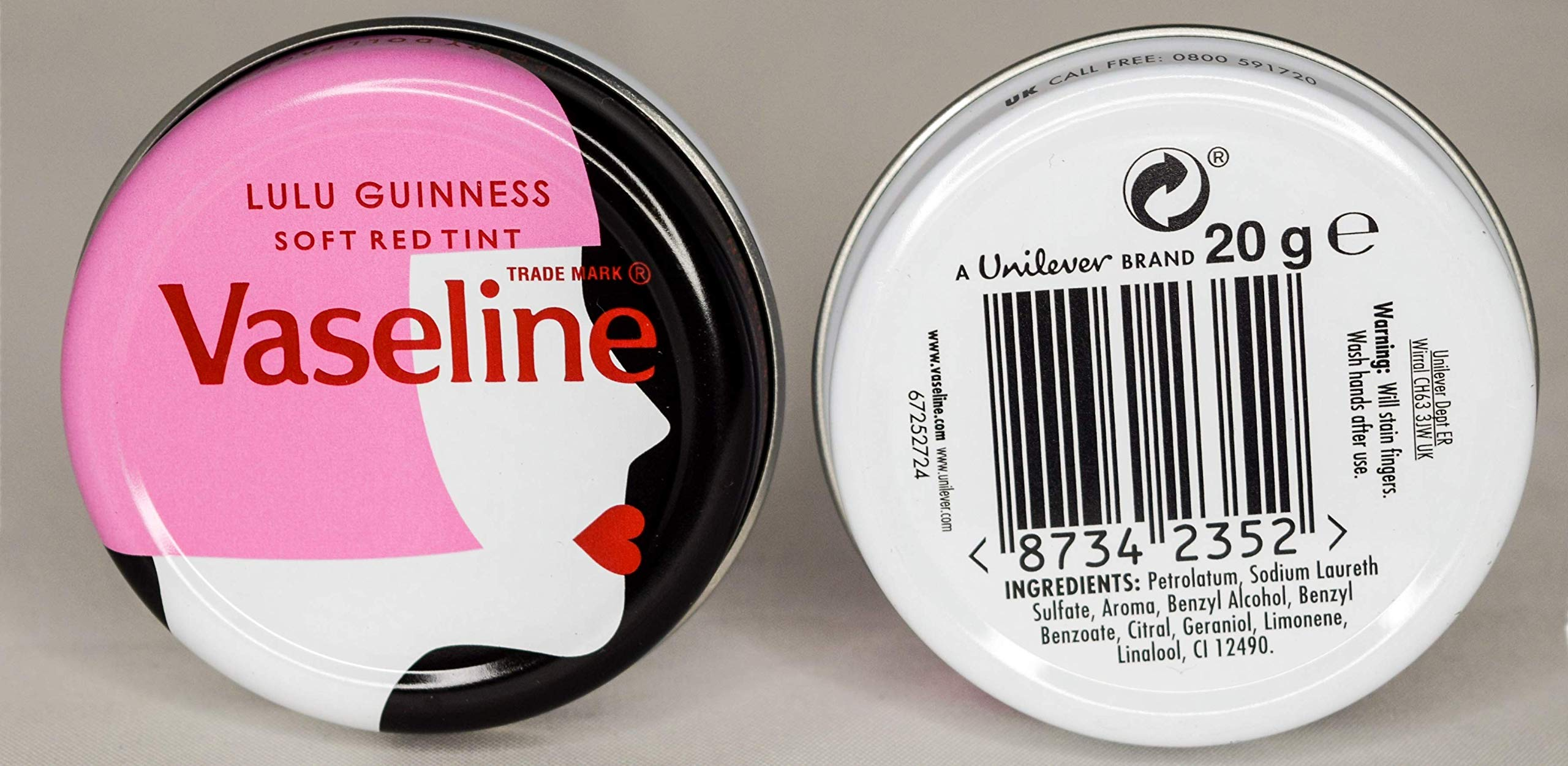 VASELINE LIP THERAPY LIMITED EDITION LULU GUINNESS 20GM (VASELINE LIMITED EDITION LIP THERAPY LULU GUINNESS, 24X20GM)