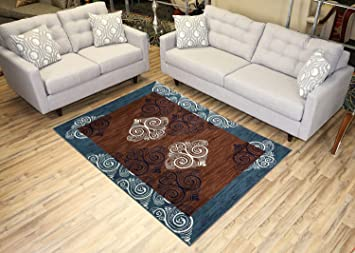 Amazon Com Studio Collection Damask Abstract Design Area Rug Rugs