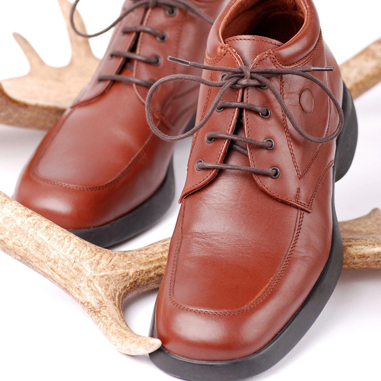 Sumind 3 Pares de Cordones de Zapatos Negros Redondos y 3 Pares de Cuerdas de Zapatos Marrones Finas 2,5 mm de Ancho y 80 cm de Largo para Vestido ...