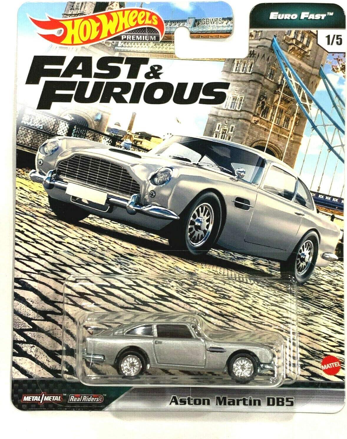 Amazon Com Diecast Hotwheels Fast Furious Euro Fast 1 5 Aston Martin Db5 Silver Toys Games