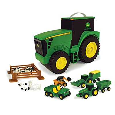 John Deere Durable Vehicle Toy Set for Kids with Tractor Shaped Portable Carry Case: Toys & Games [5Bkhe0706682]