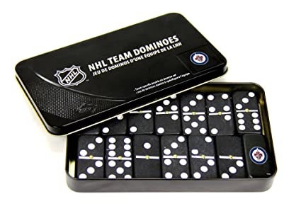 5f42b2c91e6 Amazon.com   NHL Winnipeg Jets Domino Set in Metal Gift Tin   Sports ...