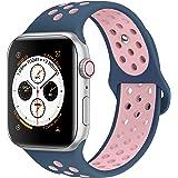 admaster Apple Watchバンド38mm 42mm、ソフトシリコン交換用リストバンドiWatch Apple Watchシリーズ1/ 2/ 3、Nike +、Edition、スポーツ