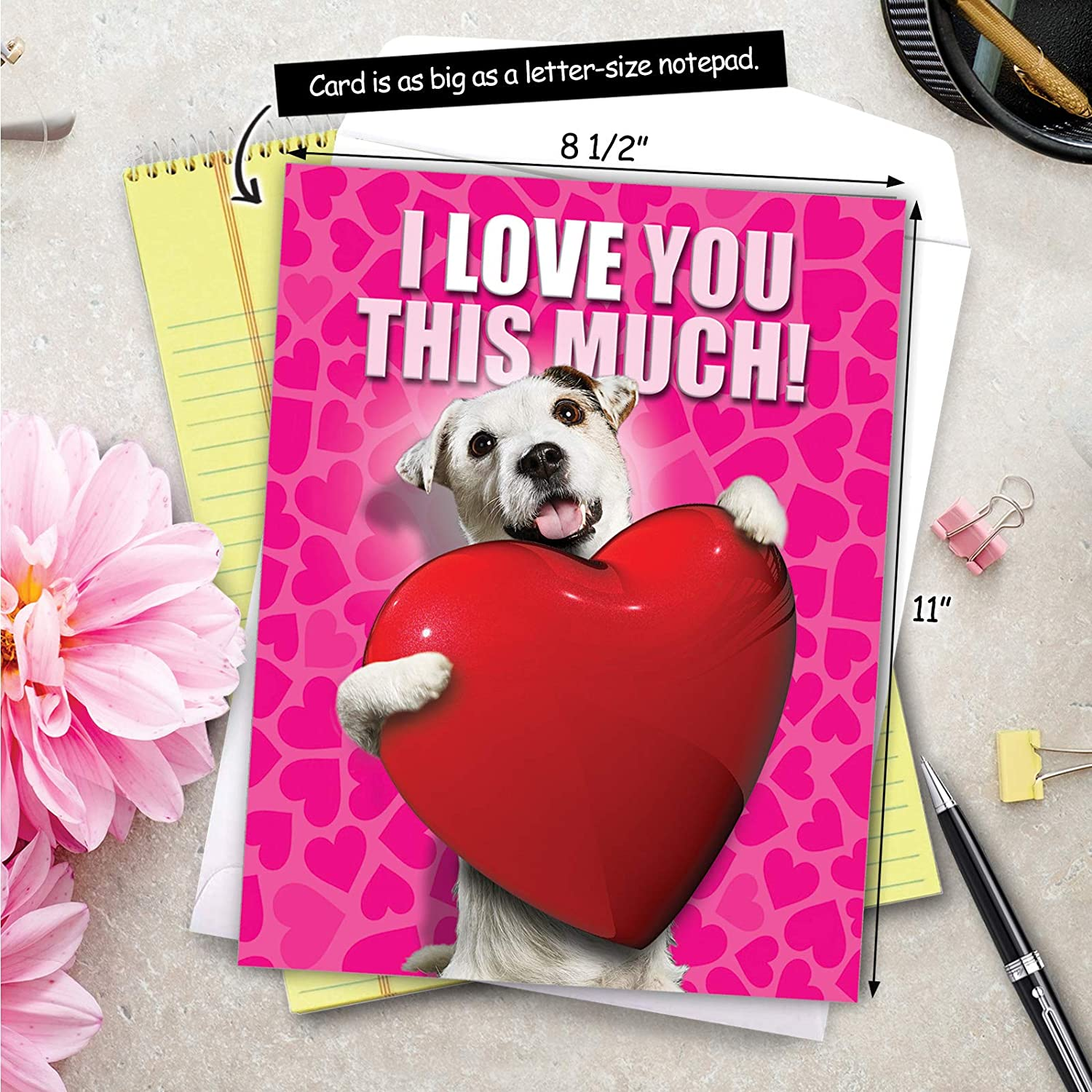 Greeting Card Cute Adorable Valentine paper Made In Toronto Canada Animal Lover Wild Thanks For Being My Dire Wolf You Make My Heart Sing