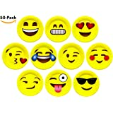 "7"" Inch Emoji Paper Party Plates by LiveEco Emoji Party Supplies 