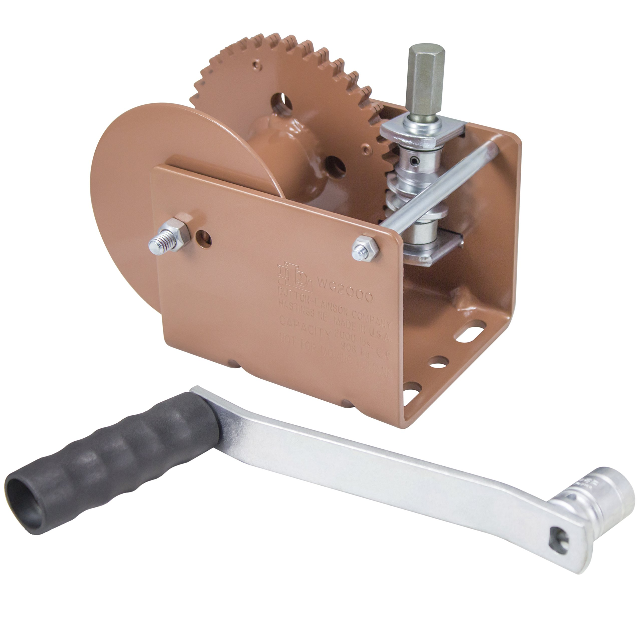 Dutton-Lainson Company (WG2000HEX) Worm Gear Winch with Hex Drive - 2000 lb. Load Capacity by Dutton-Lainson Company