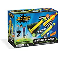 Stomp Rocket Stunt Planes Stomp Powered Planes and Launcher, 3 Planes
