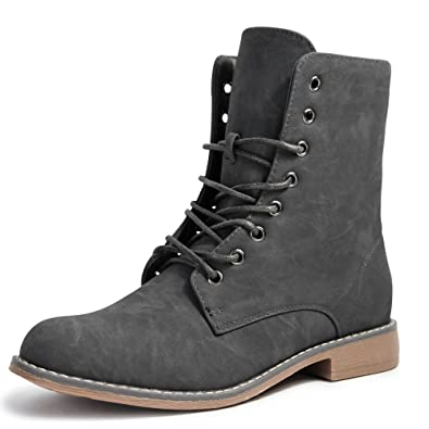 Damen Boots Worker Stiefel Stiefeletten Schn rboots Schwarz Biker neu 5208