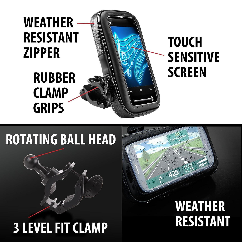 Magellan Garmin N/üvi Bici Compatible con TomTom Soporte GPS//Smartphone para Moto Funda//Carcasa Protectora Nova Parcialmente Impermeable Apple Iphone y muchos otros GPS y Smartphones. Scooter
