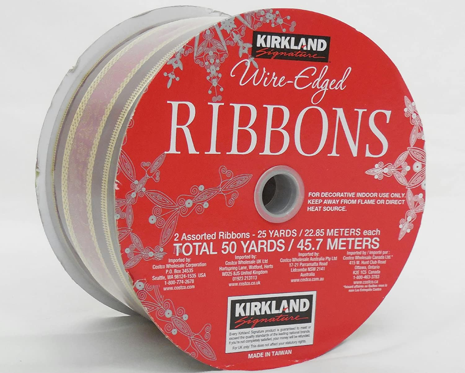 Amazon Red With White Letters Of Christmas Greetings 50 Yards X