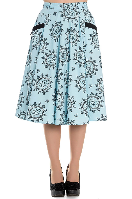 Hell Bunny - Falda - para Mujer Azul S: Amazon.es: Ropa y accesorios
