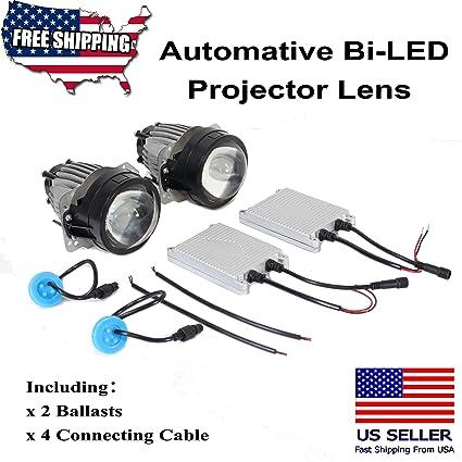 2pcs 3.0 inch Automotive Hi/lo Beam LED bi-led faros lente del ...