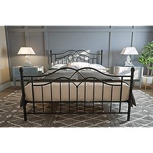 DHP Tokyo Metal Bed, Classic Design, Includes Metal Slats