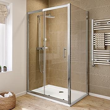 Captivating 1200 X 760 Modern Sliding 6mm Glass Shower Enclosure Cubicle Door + Side  Panel