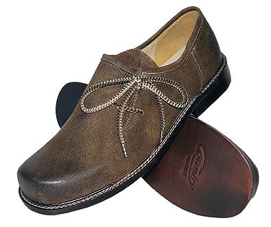67c0d4e160 Trachtenschuhe Herren Haferlschuhe Trachten-Schuhe Leder braun antik  Ledersohle Schnürschuhe Tanzschuhe Lederschuhe Glatte Sohle für