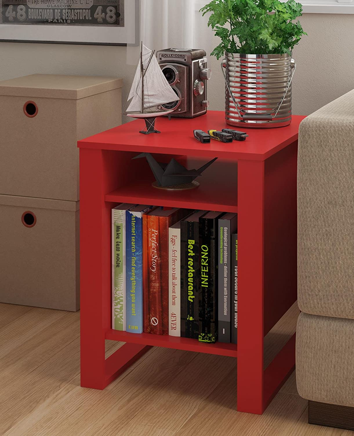 red end table pair of chinese red lacquer end tables circa   - amazoncom altra reese accent table ruby red kitchen dining