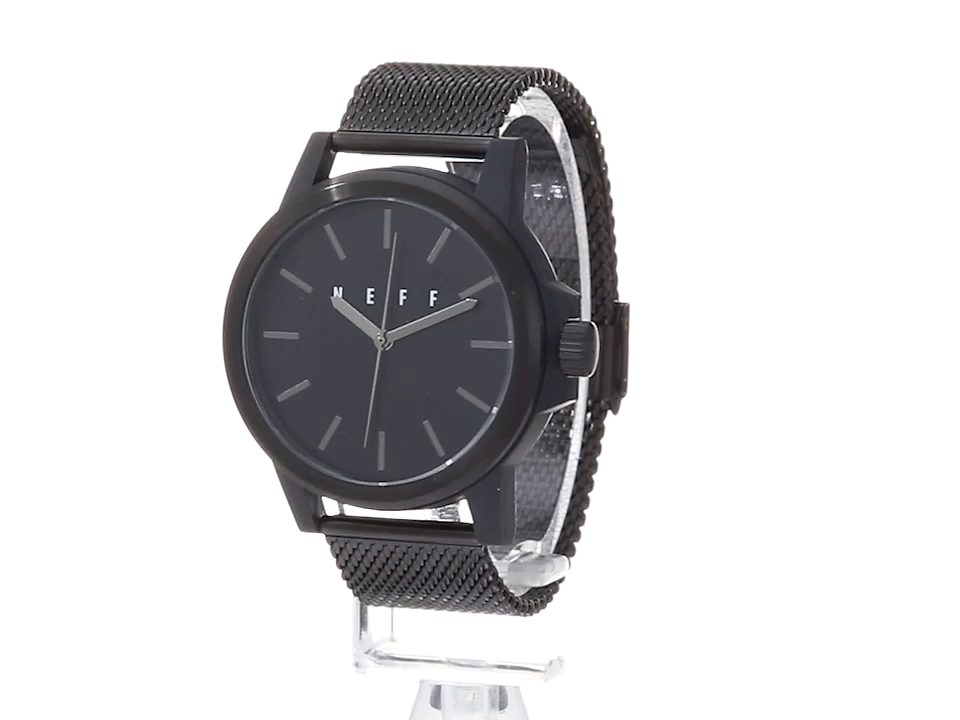 Amazon.com: neff Chinese-Automatic Sport Watch with Alloy Strap, Black, 22 (Model: GMBKNF0251: Watches