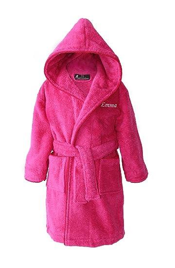 f32da0ae15bb6 Personnalisé Fille Bain Peignoir Robes De Chambre Ados Jeunes Rose:  Amazon.fr: Vêtements et accessoires
